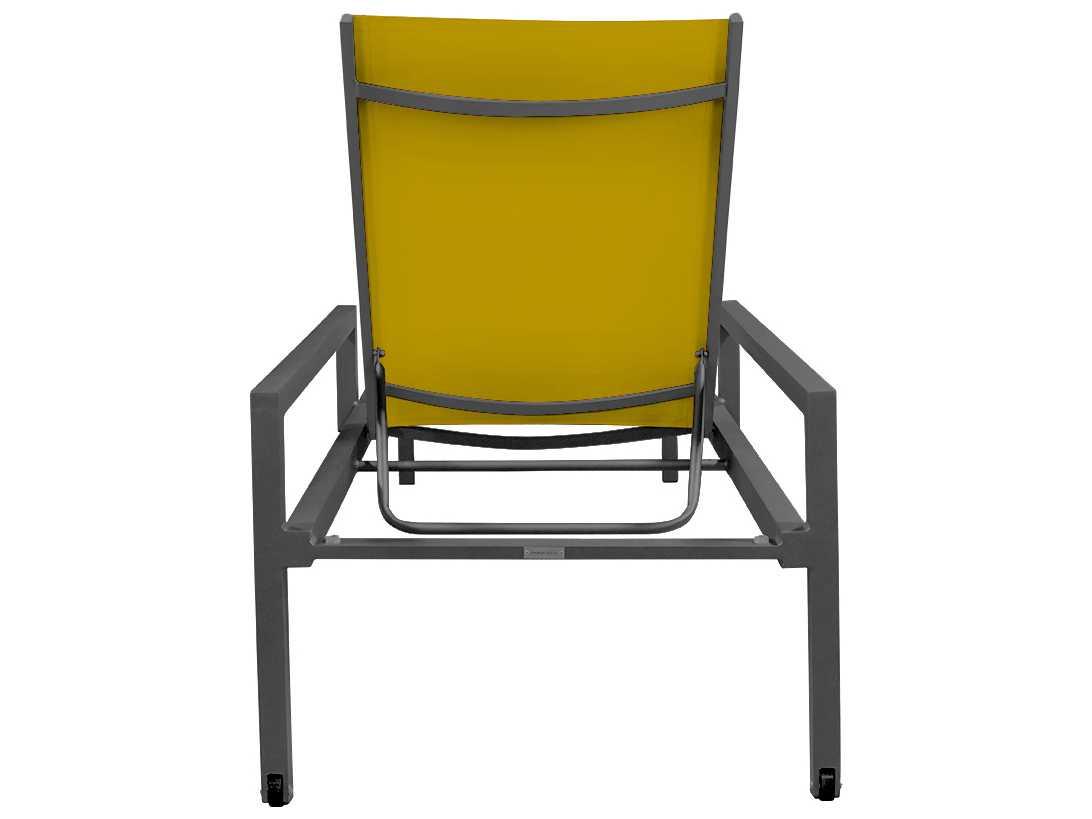 Source outdoor furniture fusion aluminum chaise with arms for Source outdoor furniture