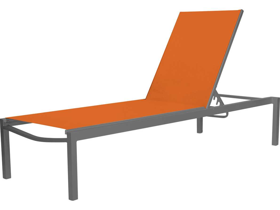 Source outdoor furniture fusion aluminum armless chaise for Armless chaise longue