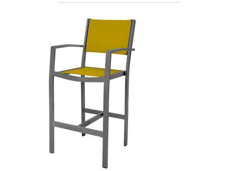 Source Outdoor Furniture Fusion Sling Aluminum Bar Arm Chair