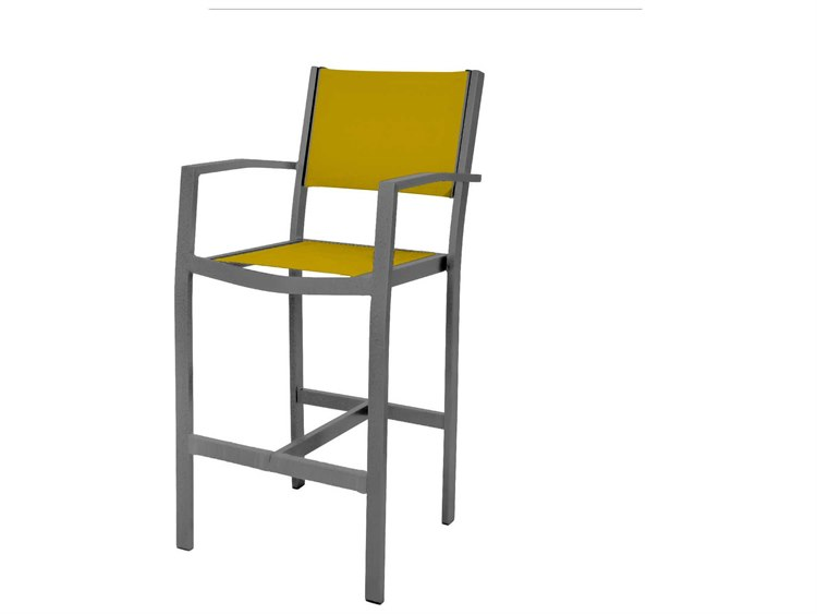 Source Outdoor Furniture Fusion Aluminum Bar Arm Chair PatioLiving