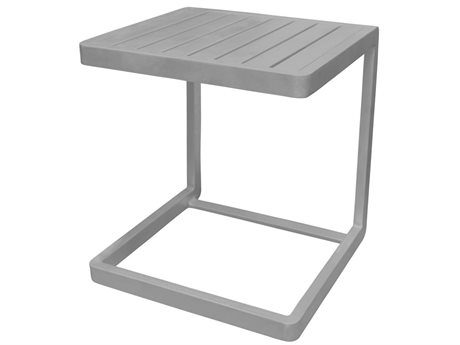 Source Outdoor Furniture Fusion 16'' Wide Aluminum Square End Table
