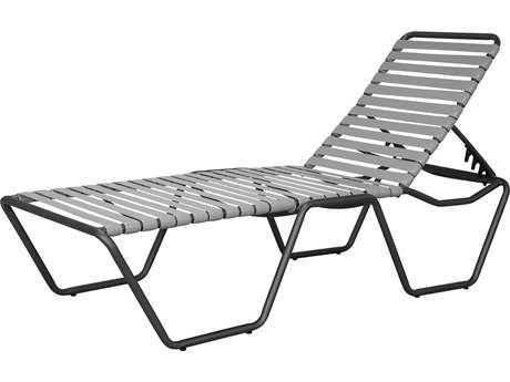 Source Outdoor Furniture Berkley Aluminum Armless Chaise Strap