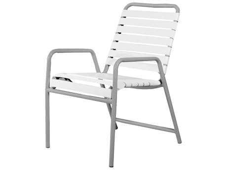 Source Outdoor Furniture Berkley Aluminum Dining Arm Chair Strap