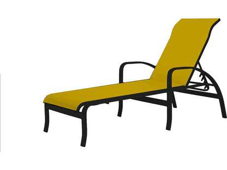 Source Outdoor Furniture Daytona Aluminum Chaise with Arms