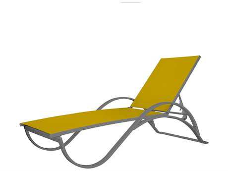 Source Outdoor Furniture Atlantic Aluminum Chaise with Arms