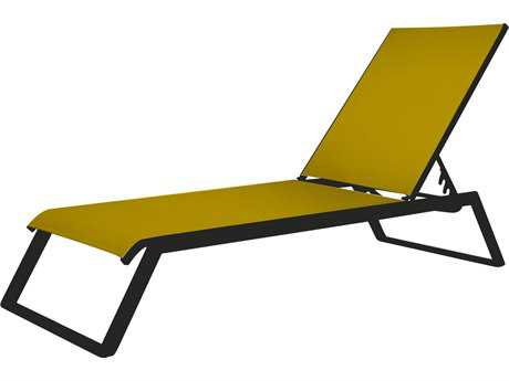 Source Outdoor Furniture Tides Aluminum Armless Chaise Sled Legs