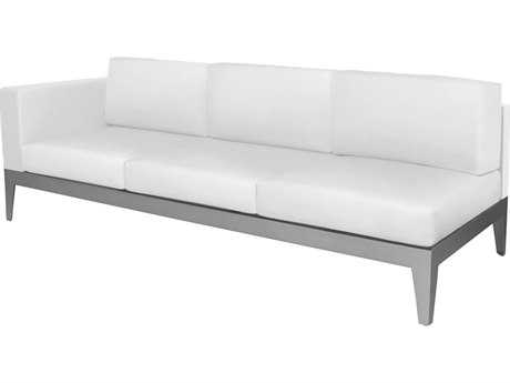 Source Outdoor Furniture South Beach Aluminum Left Arm Facing Sofa
