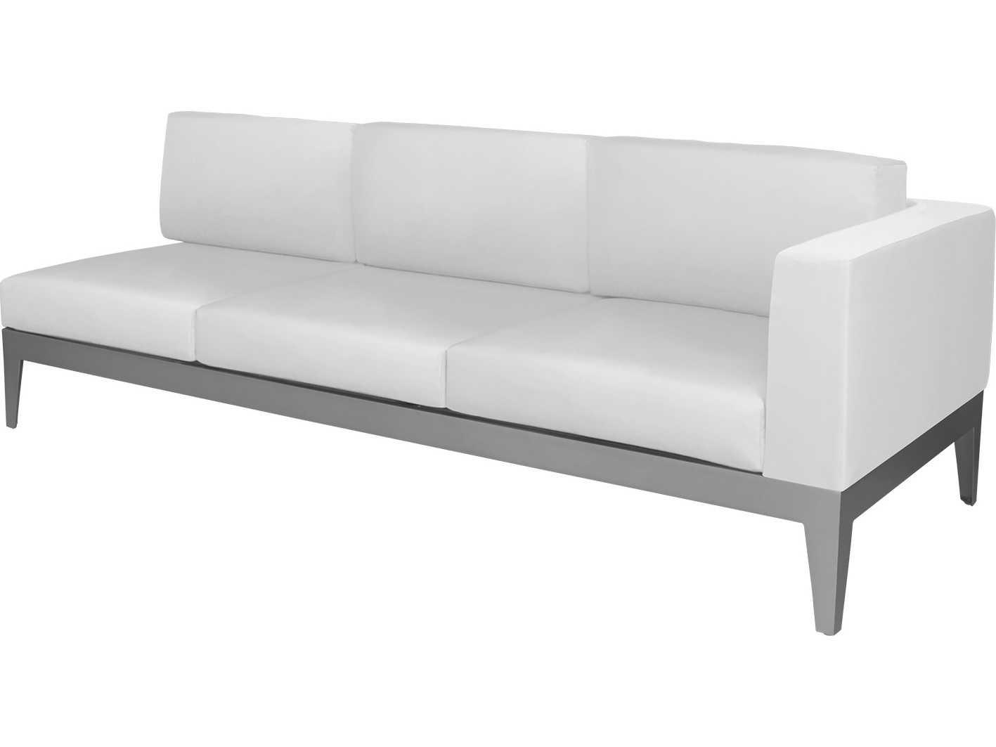 Source outdoor furniture south beach aluminum right arm for Contract outdoor furniture