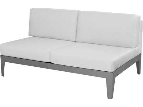 Source Outdoor Furniture South Beach Aluminum Armless Loveseat