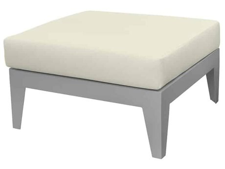 Source Outdoor Furniture South Beach Aluminum Ottoman Square PatioLiving
