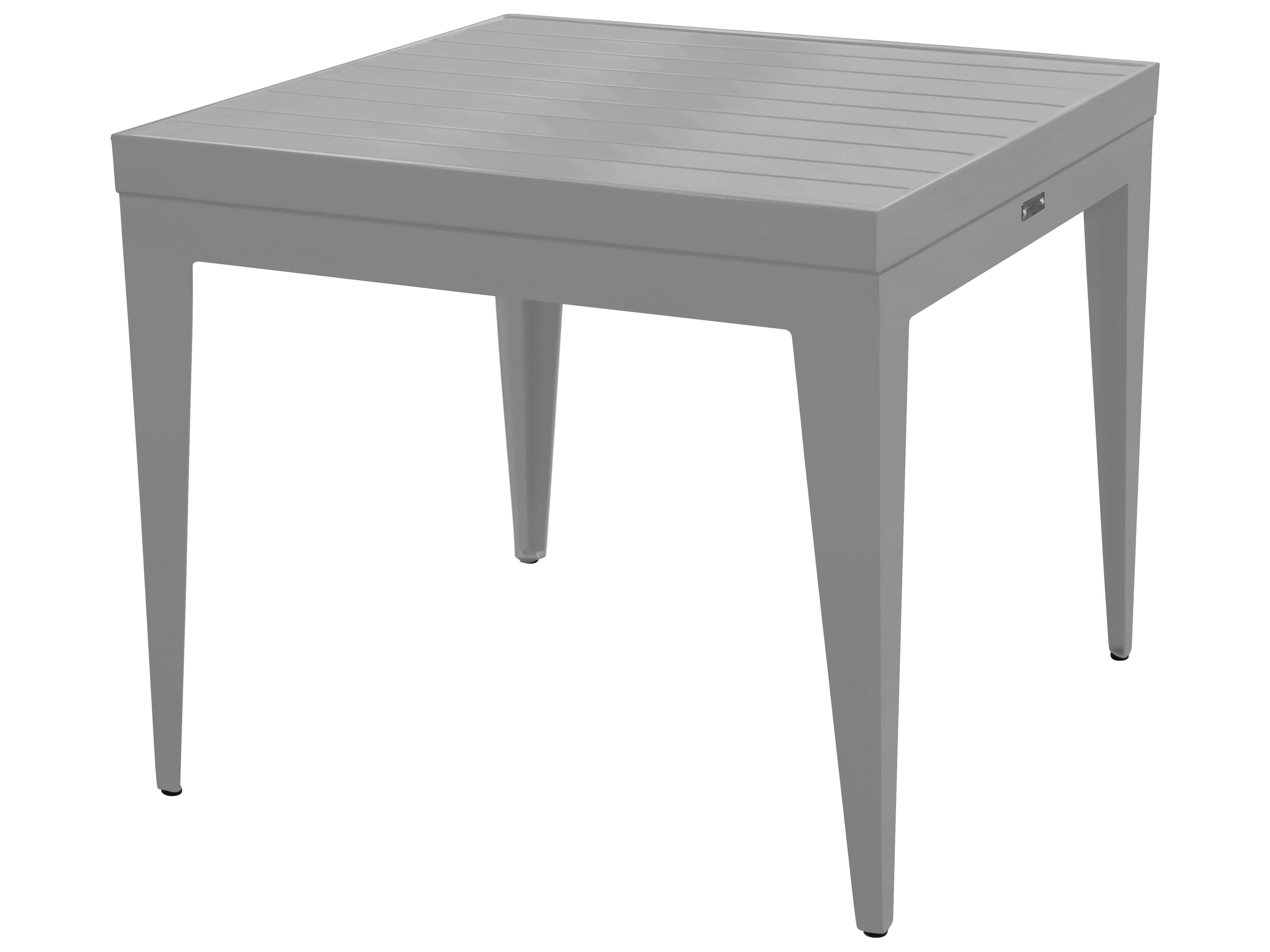 Source outdoor furniture south beach aluminum 25 square for Square end table