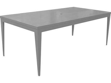 Source Outdoor Furniture South Beach Aluminum 72 x 44 Rectangular Dining Table -Seats 6