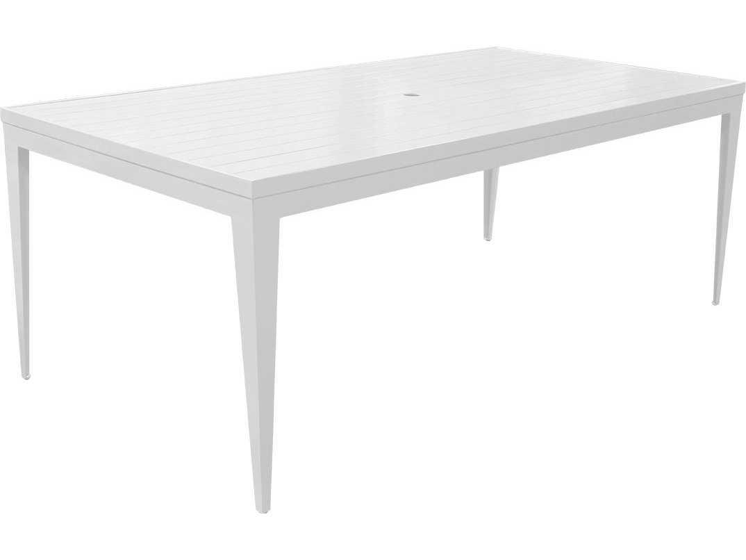 Source Outdoor Furniture South Beach Aluminum 72 X 44 Rectangular Dining  Table  Seats 6 | SO 3201 314