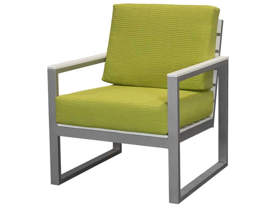Source outdoor furniture modera aluminum club chair so for Contract outdoor furniture