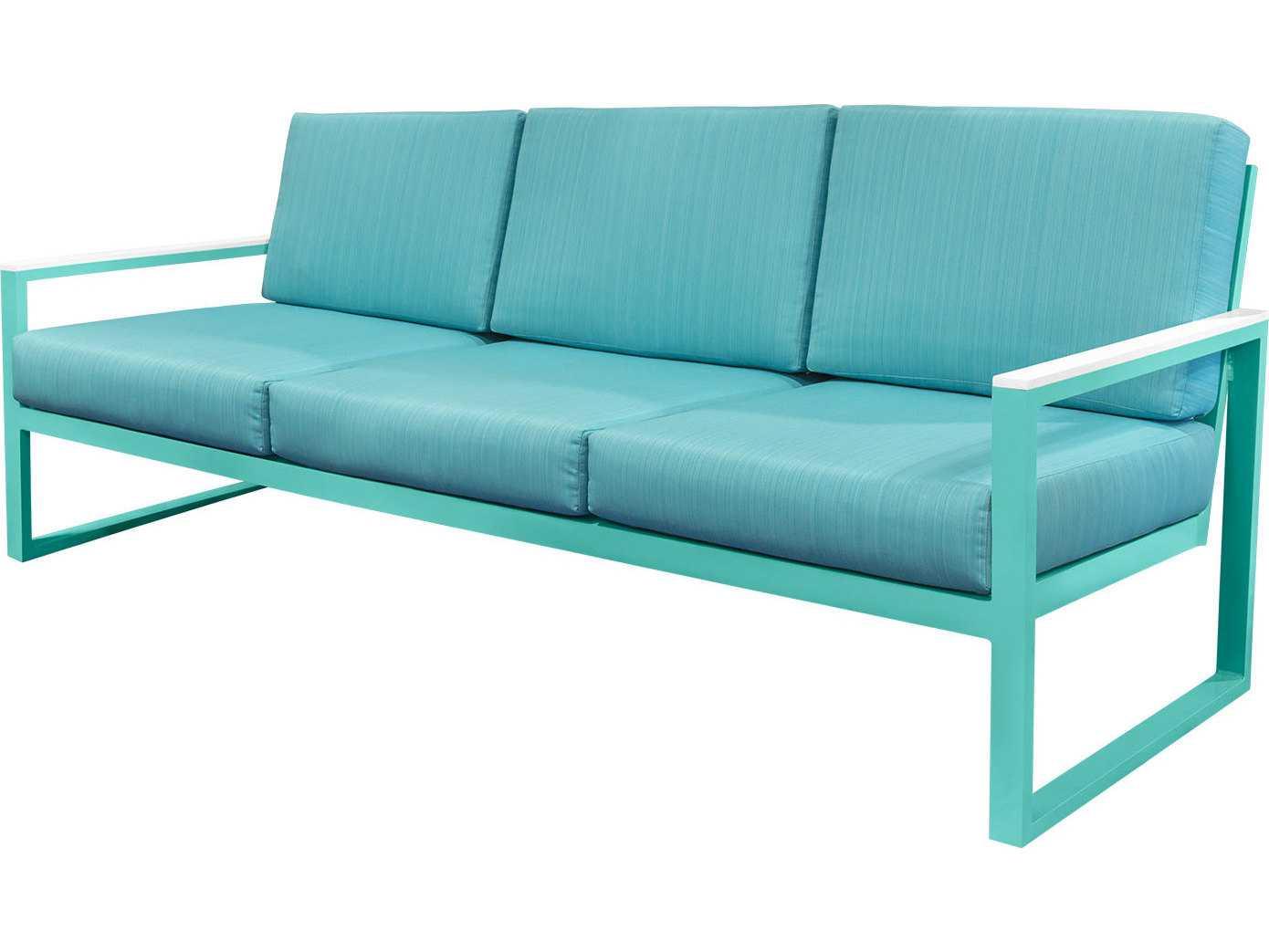 Source outdoor furniture modera aluminum sofa so 3203 103 for Source outdoor furniture