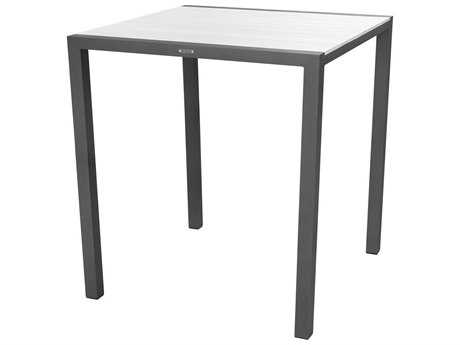 Source Outdoor Furniture Modera Aluminum 37 Square Bar Table -Seats 4