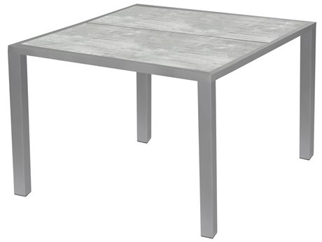 Source Outdoor Furniture Dynasty 51'' Wide Aluminum Square Dining Table