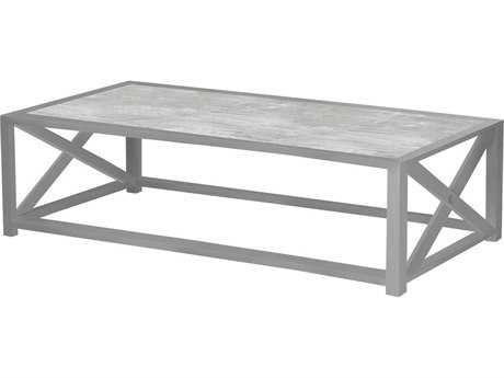 Source Outdoor Furniture Dynasty Aluminum 48 x 24 Rectangular Coffee Table