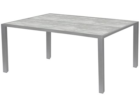 Source Outdoor Furniture Dynasty 75'' Wide Aluminum Rectangular Dining Table