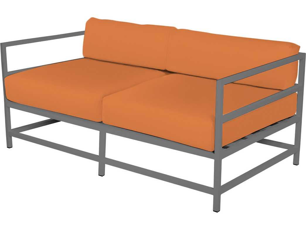 Source outdoor furniture delano aluminum loveseat so for Source outdoor furniture