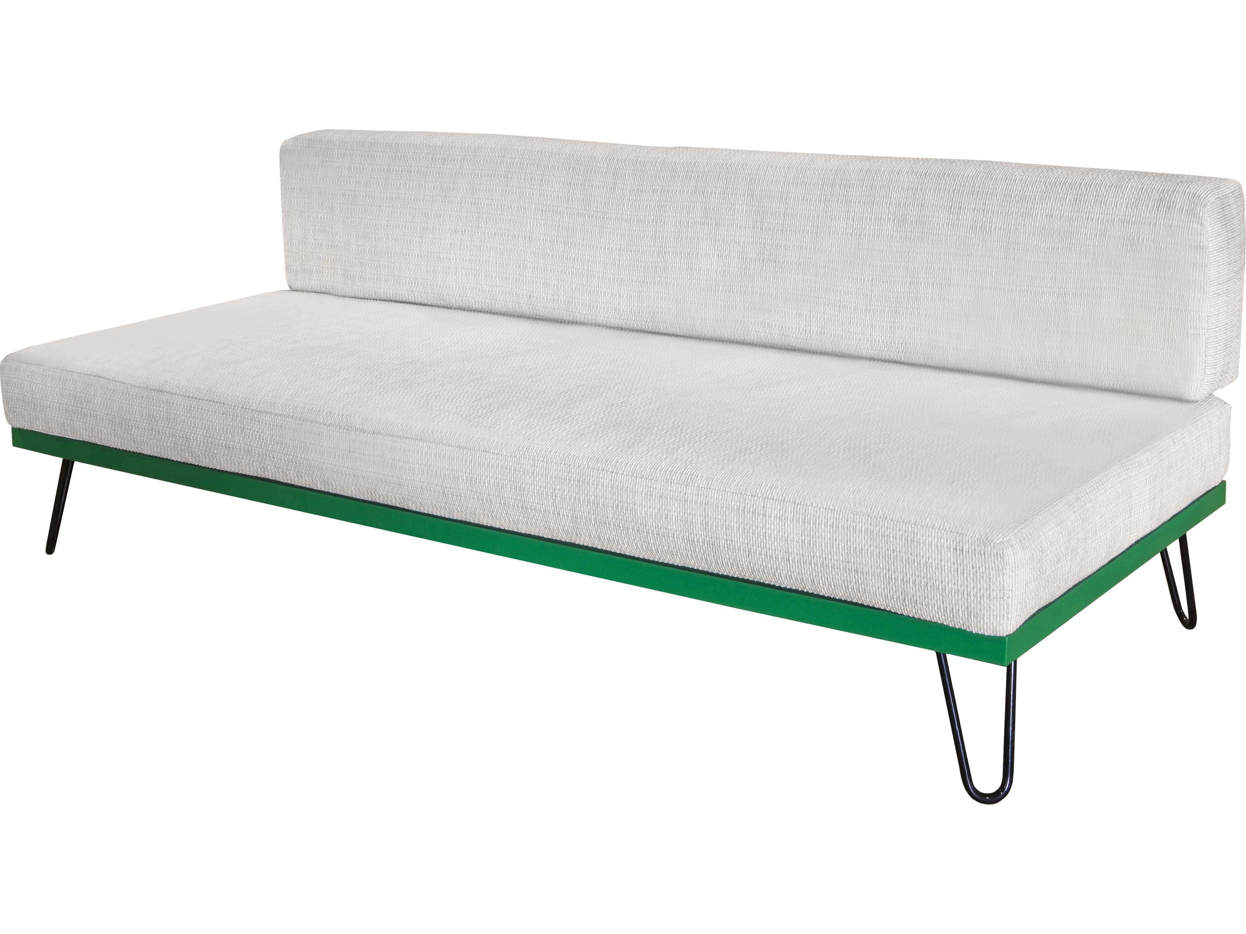 Source outdoor furniture viceroy aluminum armless sofa for Source outdoor furniture