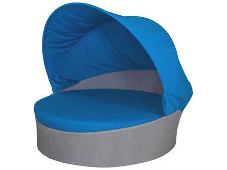 Source Outdoor Furniture Aqua Aluminum Medium Daybed with Canopy (Round) SCSO3401225
