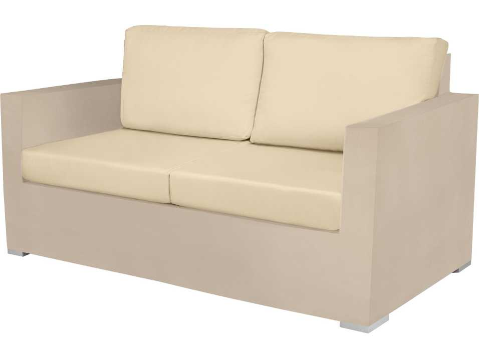 Source outdoor furniture lucaya wrap aluminum loveseat for Contract outdoor furniture