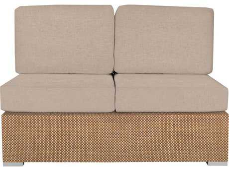 Source Outdoor Furniture King Upholstered Armless Loveseat Replacement Cushion
