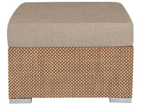 Source Outdoor Furniture Lucaya Wrap Aluminum Ottoman Rectangular