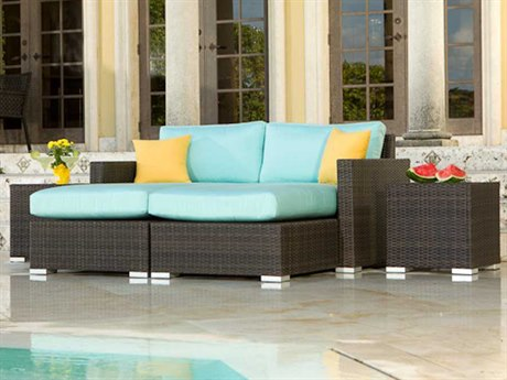 Source Outdoor Furniture Lucaya Wicker Chaise Lounge Set