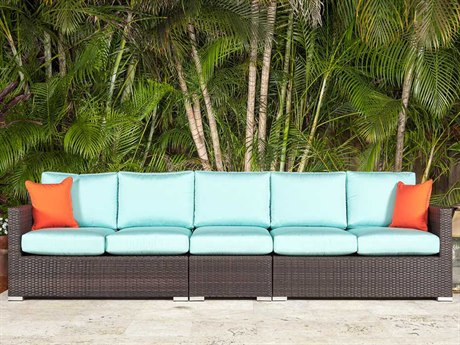 Source Outdoor Furniture Lucaya Wicker Sectional Sofa