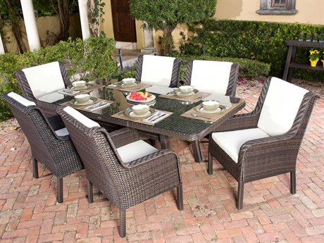 Source Outdoor Furniture Tahiti Wicker Dining Set