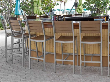 Source Outdoor Furniture Vienna Aluminum Bar Chair Set