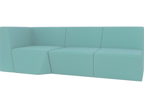 Seasonal Living Fizz Marine Grade Polymer Francais 75 Armless Loveseat with Left or Right Return