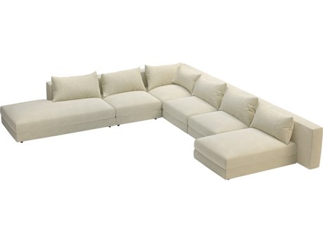 Seasonal Living Fizz Sunbelievable™ Cove Pearl Marine Grade Polymer Julep Full Sectional Lounge Set PatioLiving