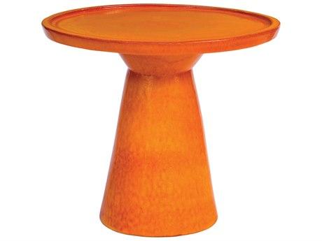 Seasonal Living Colombo Orange Ceramic 25'' Wide Round Accent Table