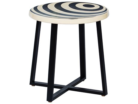Seasonal Living Serengeti Migration Bell Pattern Ceramic 22'' Wide Round Accent Table