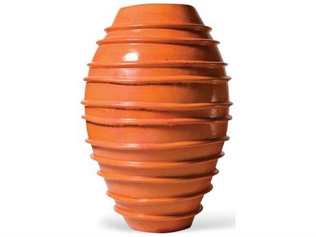 Seasonal Living Helter Skelter Orange Ceramic Vase