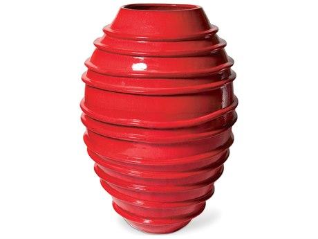 Seasonal Living Helter Skelter Red Ceramic Vase PatioLiving