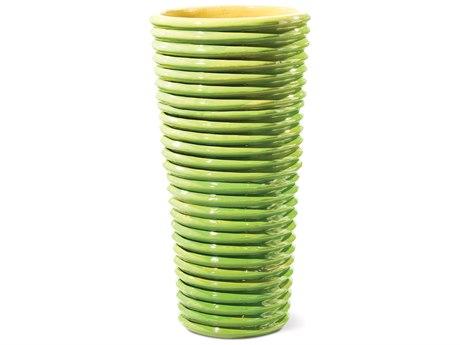 Seasonal Living Carlotta Apple Green Ceramic Vase