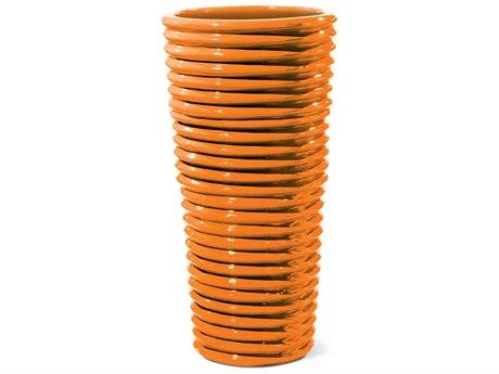 Seasonal Living Carlotta Orange Ceramic Vase PatioLiving