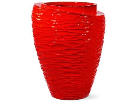 Seasonal Living Tranche Red Ceramic Vase