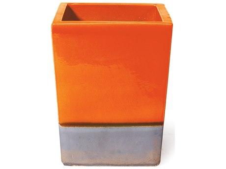 Seasonal Living Cube Orange Metallic Ceramic Planter (Price Includes 2)