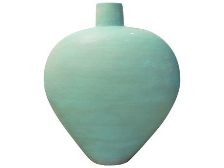 Seasonal Living Mint Green Ceramic Elliptical Medium Vase PatioLiving