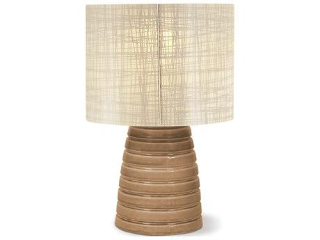 Seasonal Living Inda Ribbon Cordless Outdoor Ceramic Turquoise Blue LED Table Lamp