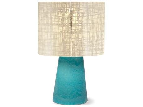 Seasonal Living Inda Copenhagen Cordless Outdoor Ceramic Turquoise Blue Table Lamp