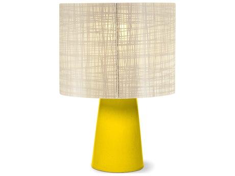 Seasonal Living Inda Copenhagen Cordless Outdoor Ceramic Yellow Table Lamp