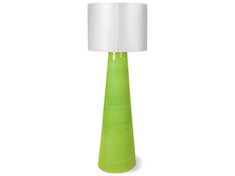 Seasonal Living Inda Copenhagen Cordless Outdoor Ceramic Apple Green LED Floor Lamp