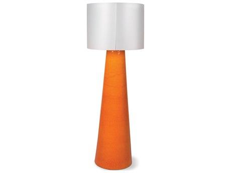 Seasonal Living Inda Copenhagen Cordless Outdoor Ceramic Orange LED Floor Lamp