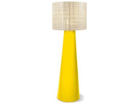 Seasonal Living Inda Copenhagen Cordless Outdoor Ceramic Yellow LED Floor Lamp